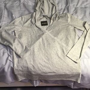 NWT Grey wrap hoodie